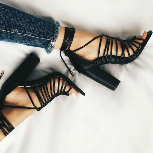 Fashion store Lulus chunky heels