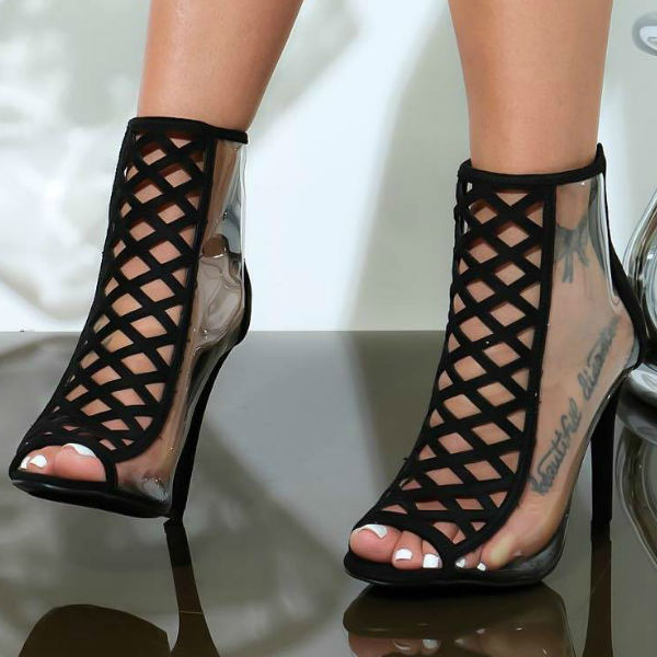 Clear Peep Toe Heels