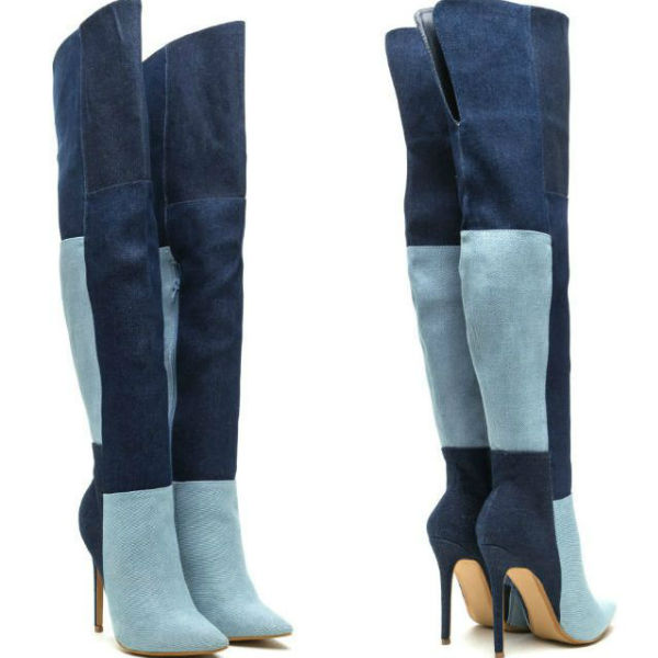 High Heel Thigh High Boots