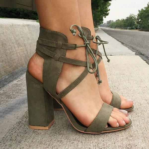 Strap Chunky Heels