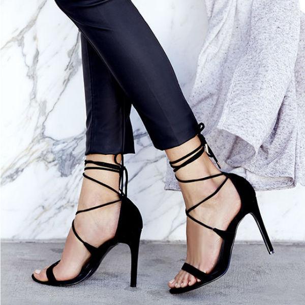 Leg Wrap Heels