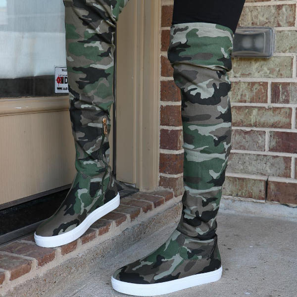Hot Thigh High Platform Sneakers