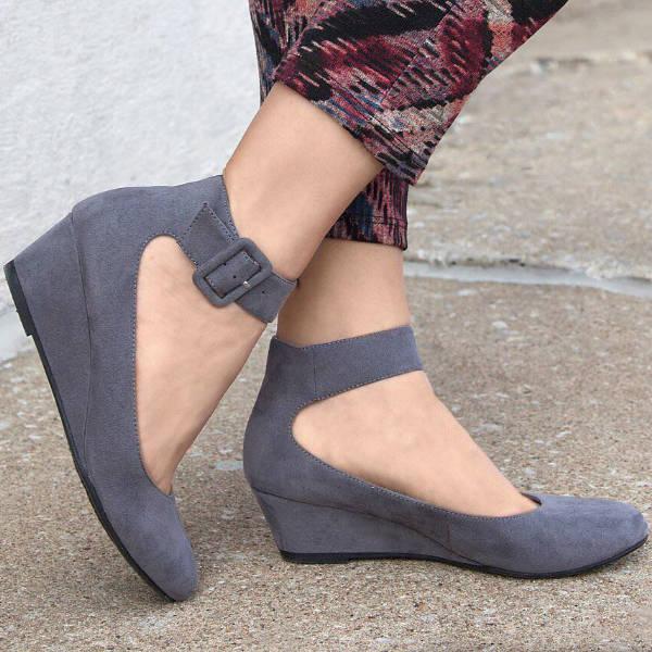 Ankle Strap Buckle Heels