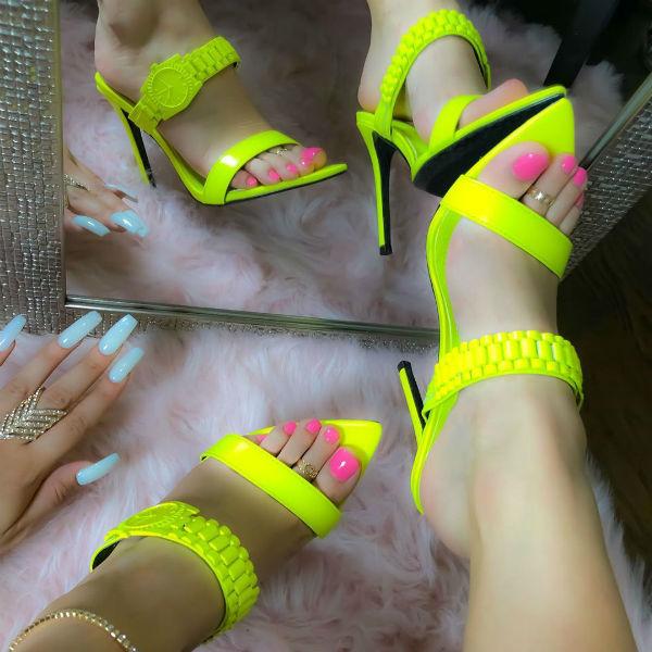 Open Toe Sandal Heels