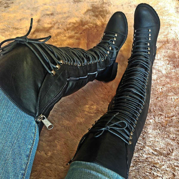 fashion store combat boots