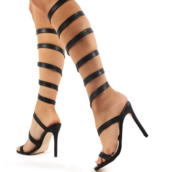 Knee High Gladiator Heels