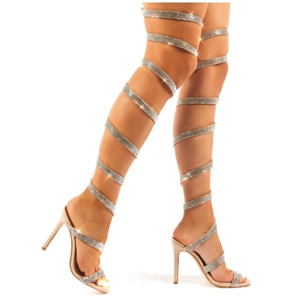 Wrap Around Sandal Heels