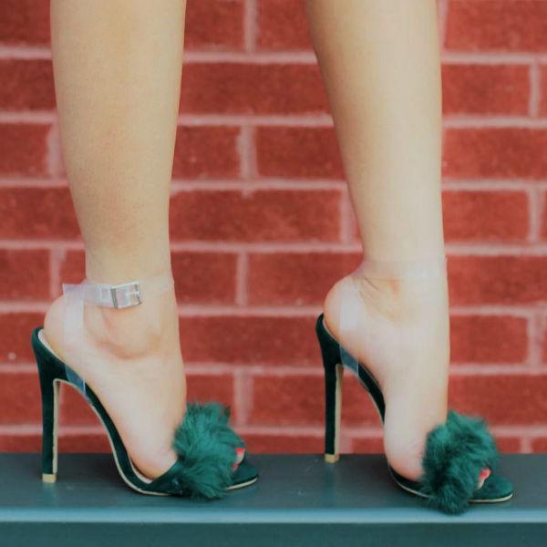 Fur High Heels