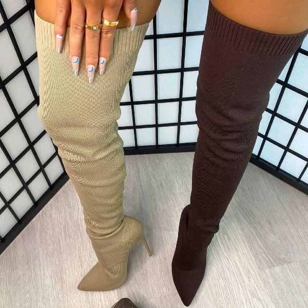 Thigh High Stiletto Boots