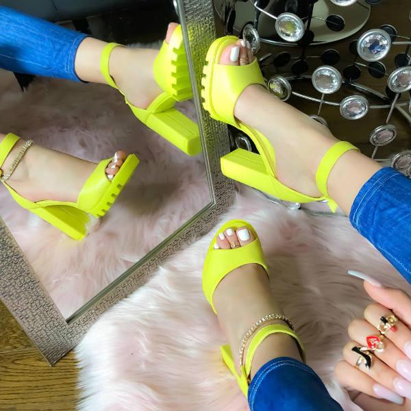 Lug sole heels