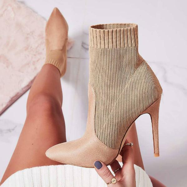 Bootie Sock Heels