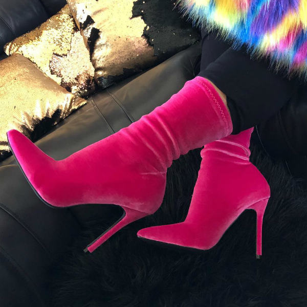 fuchsia booties