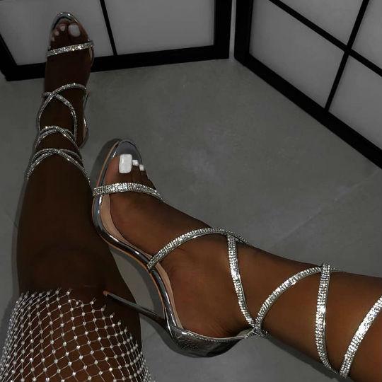 Diamante heels